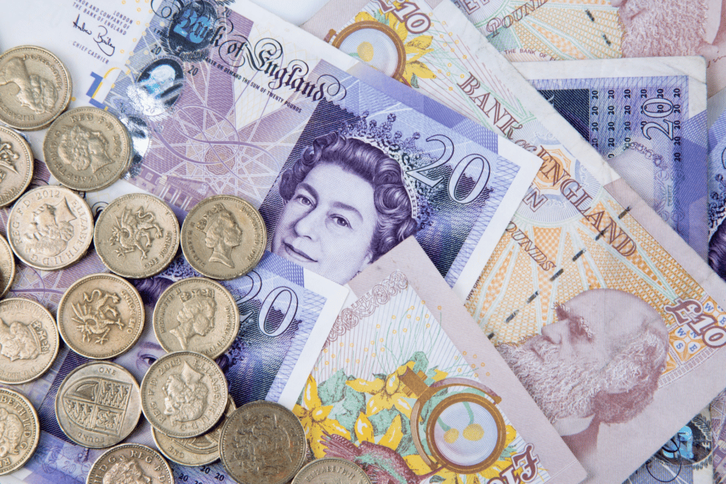 British notes and coins
