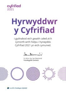 Census 2021 Certificate in Welsh