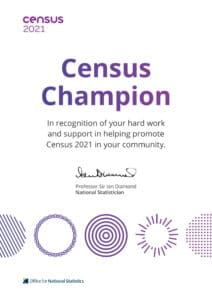 Census 2021 English Certificate